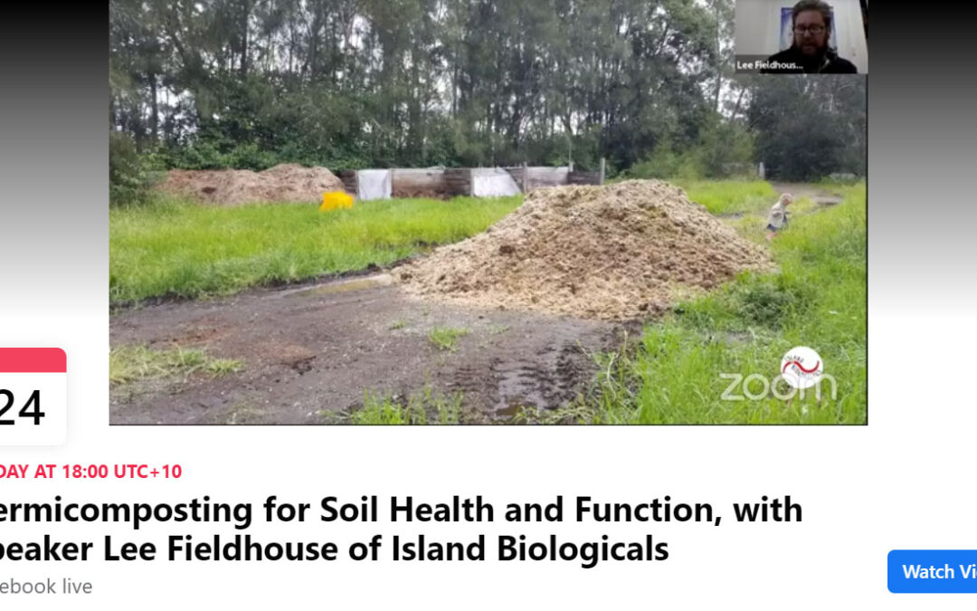 Facebook live: Vermicomposting for soil health and function